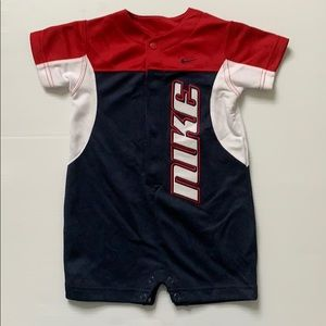 Nike red, white and blue onsie romper. 12 months